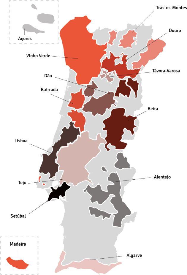 wijngebieden portugal